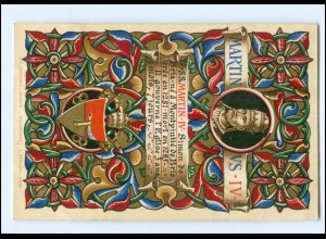 S2275/ Vatikan Papst Martin IV Litho AK 1903 Karte Nr. 70 Vatican