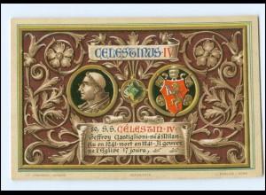 S2285/ Vatikan Papst Coelestin IV Litho AK 1903 Karte Nr. 80 Vatican