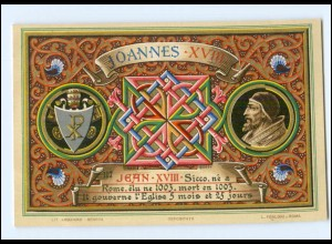 S2316/ Vatikan Papst Johannes XVIII Litho AK 1903 Karte Nr. 117 Vatican