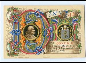 S2364/ Vatikan Papst Donus II Litho AK 1903 Karte Nr. 126 Vatican