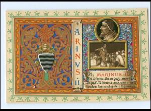 S2373/ Vatikan Papst Hadrian II Litho AK 1903 Karte Nr. 132 Vatican