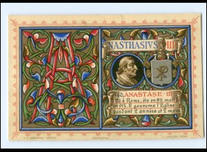 S2358/ Vatikan Papst Anastasius III Litho AK 1903 Karte Nr. 140 Vatican