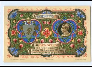 S2333/ Vatikan Papst Benedikt IV Litho AK 1903 Karte Nr. 144 Vatican