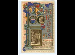 S2375/ Vatikan Papst Formosus Litho AK 1903 Karte Nr. 150 Vatican