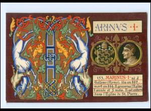 S2362/ Vatikan Papst Hadrian I Litho AK 1903 Karte Nr. 153 Vatican