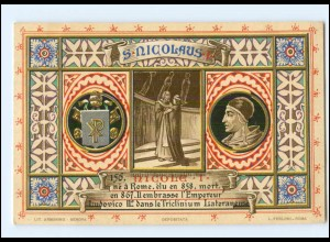 S2366/ Vatikan Papst Nikolaus I Litho AK 1903 Karte Nr. 156 Vatican