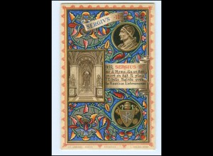 S2338/ Vatikan Papst Sergius II Litho AK 1903 Karte Nr. 159 Vatican