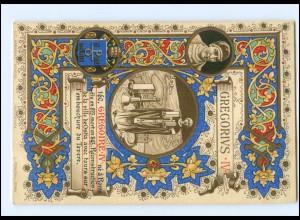 S2325/ Vatikan Papst Gregor IV Litho AK 1903 Karte Nr. 160 Vatican