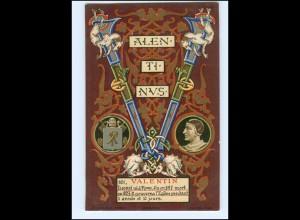 S2367/ Vatikan Papst Valentin Litho AK 1903 Karte Nr. 161 Vatican