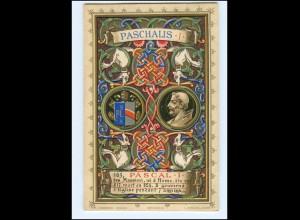 S2368/ Vatikan Papst Paschalis I Litho AK 1903 Karte Nr. 163 Vatican