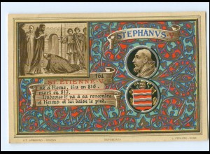S2319/ Vatikan Papst Stephan V Litho AK 1903 Karte Nr. 164 Vatican