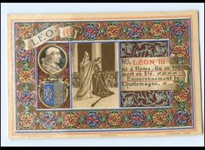 S2327/ Vatikan Papst Leo III Litho AK 1903 Karte Nr. 165 Vatican