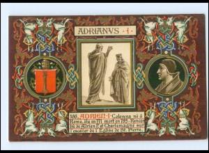 S2359/ Vatikan Papst Hadrian I Litho AK 1903 Karte Nr. 166 Vatican