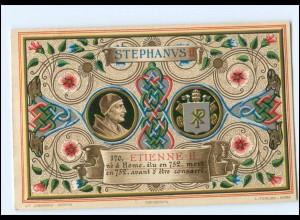 S2320/ Vatikan Papst Stephan II Litho AK 1903 Karte Nr. 170 Vatican