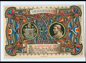 S2323/ Vatikan Papst Gregor III Litho AK 1903 Karte Nr. 172 Vatican