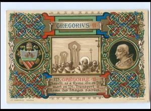 S2324/ Vatikan Papst Gregor II Litho AK 1903 Karte Nr. 173 Vatican
