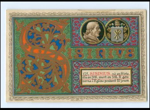 S2371/ Vatikan Papst Sisinnius Litho AK 1903 Karte Nr. 175 Vatican