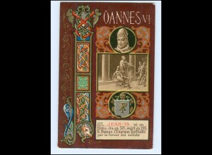 S2341/ Vatikan Papst Johannes VI Litho AK 1903 Karte Nr. 177 Vatican