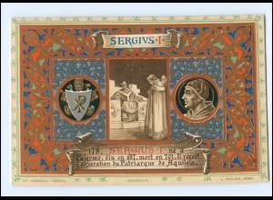 S2337/ Vatikan Papst Sergius I Litho AK 1903 Karte Nr. 178 Vatican