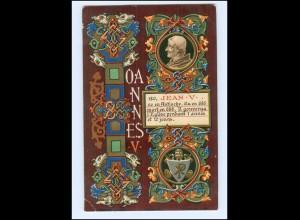 S2340/ Vatikan Papst Johannes V Litho AK 1903 Karte Nr. 180 Vatican