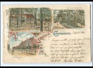 XX11045/ Gruß aus Graudenz Westpreußen Litho AK 1898
