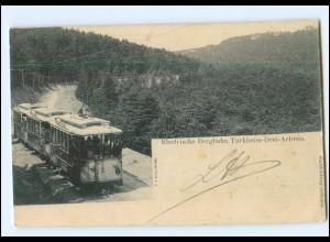 XX10814/ Türkheim Drei-Aehren Elsaß Elektr. Bergbahn AK 1903