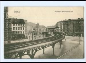 XX10850/ Berlin Hochbahn Schlesisches Tor AK 1907