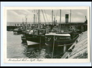 V419/ List auf Sylt Hafen AK ca.1955
