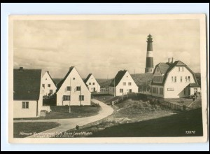 V420/ Hörnum beim Leuchtturm Foto AK ca.1935
