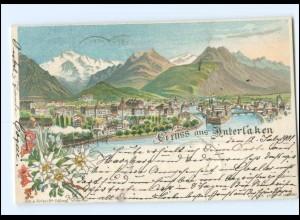 Y16881/ Schweiz Gruß aus Interlaken 1901 Litho AK