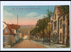 Y16952/ Elsaß Mutzig Rue de la Gare La Poste AK
