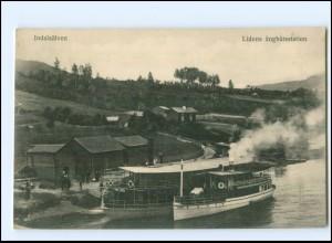 Y16997/ Indalsälven Lidens angbatsstation Schweden AK ca.1910