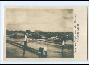 Y17003/ Von den Engländern versenkte Kähne 1. Weltkrieg Foto AK 1915
