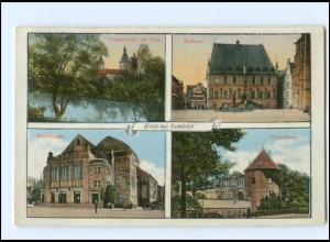 Y16919/ Osnabrück Rathaus Vitischanze Stadttheater Dom 1915 AK