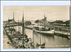 V438/ Wyk auf Föhr Hafen Foto AK 1938