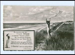 Y17001/ Sylt FKK Strand AK 1956