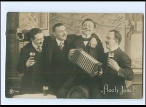 Y17034/ Hoch Josef Mann spoielt Akkordeon NPG Foto AK 1911