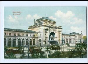 Y16912/ Mannheim Bahnhof Straßenbahn AK