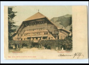 Y17049/ Rossinieres Le grand Chalet Schweiz AK 1901