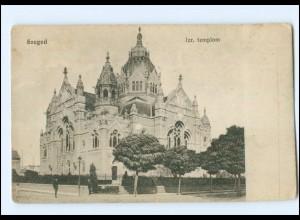 V677/ Szeged Izr. Templon Synagoge AK Ungarn ca.1912
