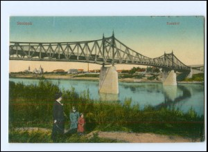 V454/ Szolnok Tiszahid Brücke AK 1917 Ungarn