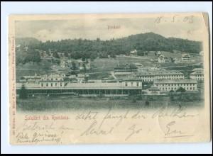 V553/ Predeal Bahnhof Salutari din Romania Rumänien AK 1908