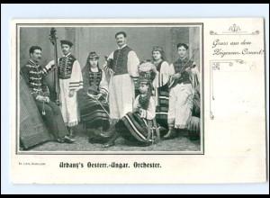 Y17084/ Urbany`s Österr.-Ungar. Orchester Zigeuner-Konzert AK ca.1900