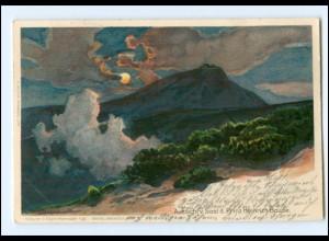 V534/ Riesengebirge Schlesien Künstler Litho AK Morgenstern 1901