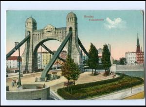 Y16870/ Schlesien Breslau Freiheitsbrücke AK