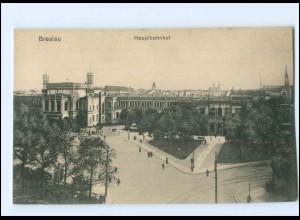 Y16868/ Schlesien Breslau Hauptbahnhof AK