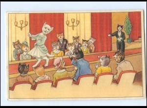 V521/ Menschliche Katzen Theater AK 1954