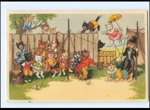V522/ Menschliche Katzen Zirkus AK 1954