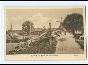 Y16913/ Borstel bei Jork im Altenlande Hafen AK