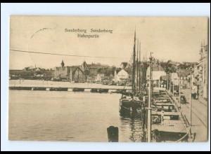 Y17027/ Sonderburg Hafen Nordschleswig AK 1914